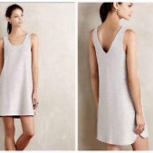 Anthropologie Tank Dress Silver Small Stretch